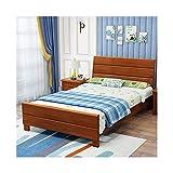 JTJxop Marco de cama con plataforma de madera maciza, base de colchón de madera de goma, soporte de listones resistentes, no necesita sombrilla, para niños y adultos, B, 100 x 200 cm