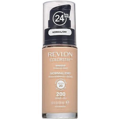 REVLON レブロン カラーステイ メイクアップ D オフィス、旅行など 携帯に便利な オリジナルポーチ付! (乾燥肌用, 200 ヌード)