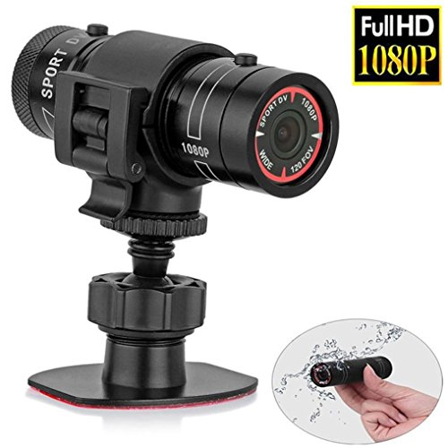Lacaca 1080P Full HD DV impermeabile Mini videocamera per casco sportivo, DVR Video