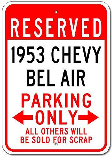 1953 53 Chevy Bel AIR muurteken creativiteit gepersonaliseerde metalen plak kunst vintage decoratie blad handwerk hangers poster cafe bar garage
