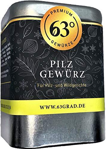 63 Grad - Pilz Gewürz für Champignon, Steinpilz, Pfifferling Shitake und mehr (75g)