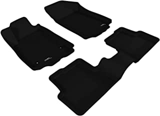 3D MAXpider L1CH02901509 Complete Set Custom Fit All-Weather Floor Mat for Select Chevrolet Sonic Models - Kagu Rubber (Bl...