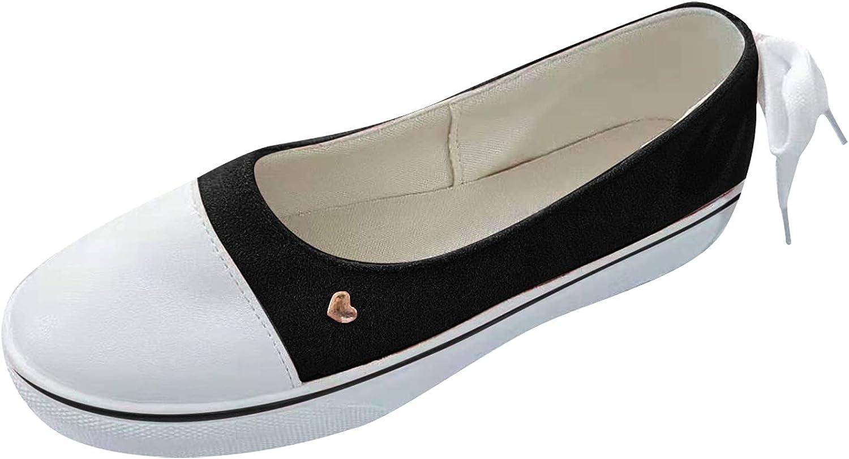 ZiSUGP Women's Slip-Ons Canvas Shoes Low Top Fashion Lightweight Sneakers Walking Shoe