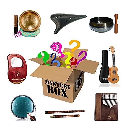 Lucky Boxes Scatola Cieca di Strumenti Musicali, Eccellente Rapporto qualità-Prezzo, c è La possibilità di Aprire: Cabalin, Tamburo della Lingua d Acciaio, Tamburello, Ukulele, ECC