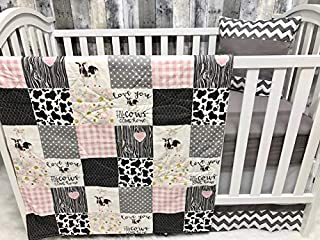 Baby Girl Nursery Bedding, Baby, Farm LIfe, Cow, Chickens, Cowboy, Farmer, Tractor, Baby Bedding, Crib Bedding, Babylooms