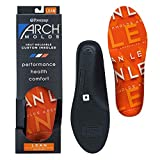 Powerstep Men's Archmolds Lean Orthotic Insoles Heat Moldable Shoe Inserts for Slim Cushioning and Full Support for at Home Workouts, Orange, Men's 13-13.5