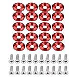 Akozon Paraurti in alluminio/rondella parafango bullone kit di fissaggio vano motore 20 pe...