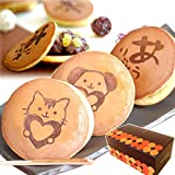 敬老の日 の プレゼント 人気商品 おいもや どら焼き お菓子 食べ物 敬老の日ギフト ギフトセット どらやき 5個 セット (ありがとう3、犬1、猫1個)