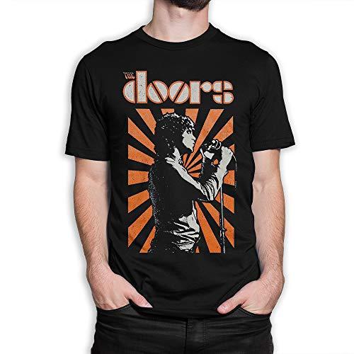The Doors Vintage T-Shirt, Jim Morrison Rock Tee (2XL) Black