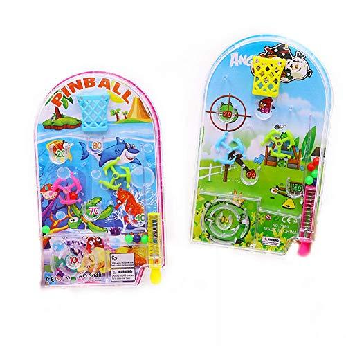 Vektenxi 1 juego de novedad bolsillo plástico pinball juguete divertido partido máquina mini rompecabezas juguete educativo estilo aleatorio calidad premium