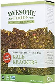 Awesome Foods, Organic, Gluten-Free, Plant-based, Non-GMO, Kale Krackers, 6 Pack