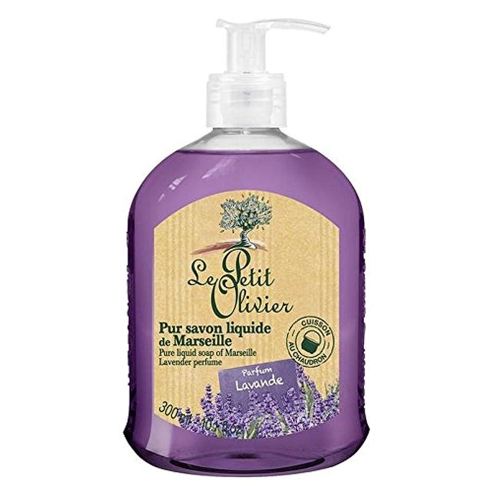アシスタント令状乏しいマルセイユのル?プティ?オリヴィエ純粋な液体石鹸、ラベンダー300ミリリットル x4 - Le Petit Olivier Pure Liquid Soap of Marseille, Lavender 300ml (Pack of 4) [並行輸入品]