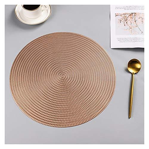1PCS PVC Runde Umweltschutz Startseite Kaffeetasse Mat Tischset Hochzeit Weihnachten Tischset Küchenzubehör (Farbe : Rose Gold, Größe : 1pc)