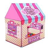 Tienda Campaña Infantil - Carpas para Niños Casa de Juegos para Niños Niñas Jugando Castillo Interior Cumpleaños al Aire Libre (Rosa)