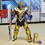 XVPEEN Modelo Marvel Avengers: Endgame 20Cm Modelo De Personaje Animado De Thanos Ultimate Equipment...
