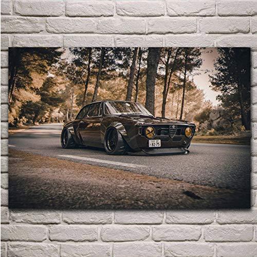 danyangshop Imprimir 1965 Clásico Fresco Gulia V8 Carbon 488 Super Tuning Sport Car Decoración De La Sala De Estar Decoración del Arte del Hogar Cartel De Tela A180 (40X60Cm) Sin Marco