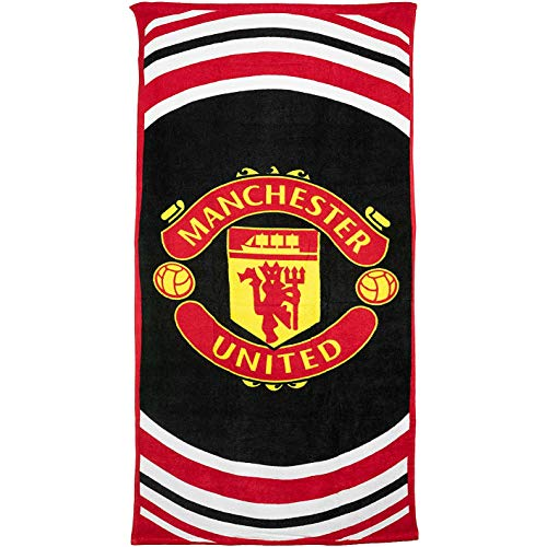 Manchester United Pulse Strandtuch (one size, black)
