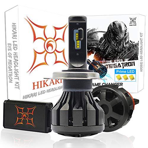 HIKARI Ultra LED Headlight Bulbs Conversion Kit -H4(9003), Prime LED 12000lm 6K Cool White