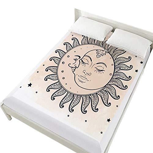 QZXCD HoeslakenCreative 3d Bed Sheets On Elastic Band Bed,hoeslaken 160x200,matrashoes voor Bed.bedlaken, beddengoed Paars 150x200 Diep 30cm 38
