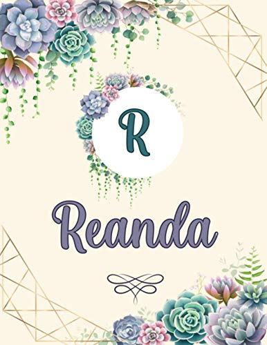 Reanda: Perfect Personalized Sketchbook with name for Reanda with Monogram Initial Capital Letter A Sketchbook and Handmade Floral Design Book (8.5x11) | Personalized Birthday Gift for Reanda