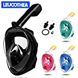LEUCOTHEA Snorkel Mask Full Face Diving Mask Swimming Scuba Detachable Breathing Tube