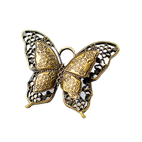 Jewelry Accessories Vintage Alloy Hollow Butterfly Bronze DIY Pendant for Long Necklace Bracelet Gifts for Her