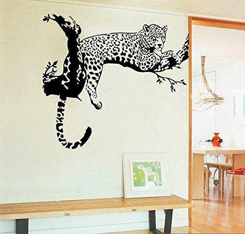 HALLOBO® Wandtattoo Leopard Wandaufkleber Wohnzimmer Schlafzimmer WandSticker Wall Sticker Deko