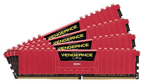 Corsair Vengeance LPX Memorie per Desktop a Elevate Prestazioni con Airflow Fan, 32 GB (4 X 8 GB), DDR4, 3600 MHz, C18 XMP 2.0, Rosso, dissipatore calore