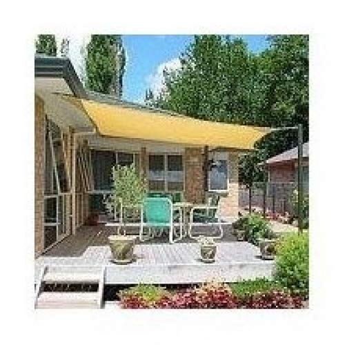 Apontus Sun Shade Sail Rectangle UV 18' x 18', Sand