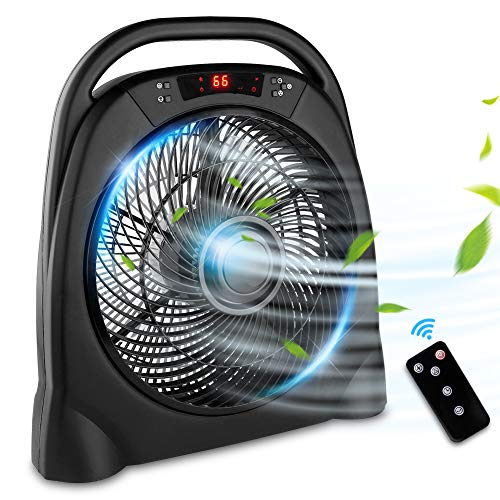 12 Inch Portable Desk Fan With Remote Control Quiet Floor Fan with 3 Speeds and 12H Timer, Air Circulator fan for Home Office Desktop Bedroom