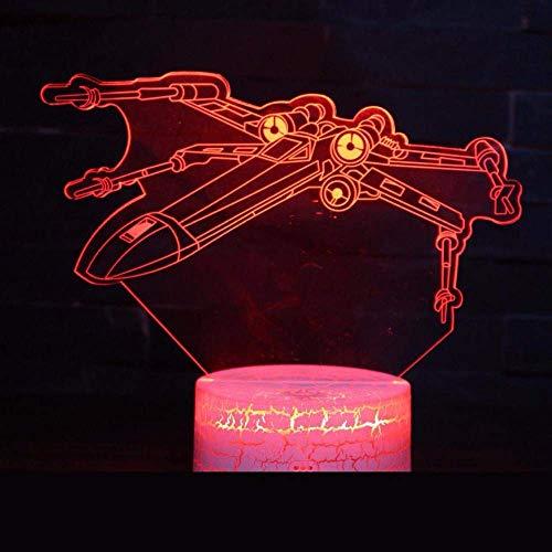Star Wars 3D Light Regalo creativo Visual 3D L Luz de noche Regalo cuantitativo de Navidad Luz de habitación de bebé