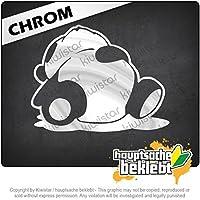 スリーピーパンダ Sleepy Panda 10cm x 9cm 15色 - ネオン+クロム! ステッカービニールオートバイ