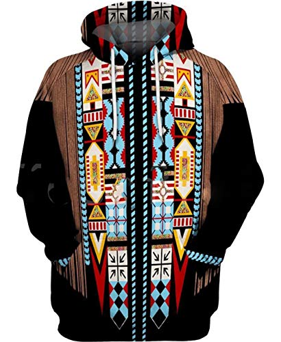 Indian Native Harajuku Colorful Chándal 3D Full Print Hoodie/Sweatshirt/Jacket Just picture1 3XL