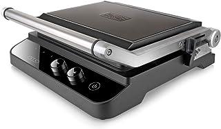 Black+Decker ES9680030B BXGR2000E Grill Electrique, Acier Inoxydable Anti Empreintes digitales, Noir