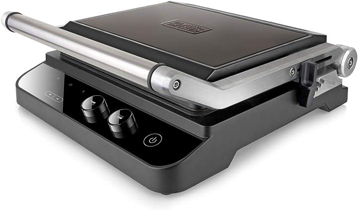Grill elettrico 2000 w acciaio inossidabile nero black+decker bxgr2000e ES9680030B