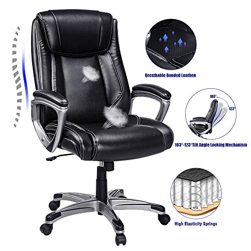 VANSPACE High Back Executive Office Chair Big Ergonomic Computer Desk Chair Bonded Leather Chair...