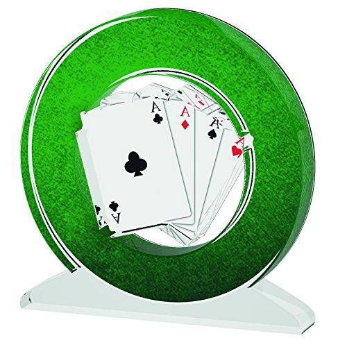 ACRYLATE TROPHÄE Poker B Acrylic Trophy, grün, S