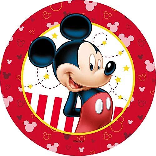 Mickey Mouse Runde Tortenaufleger 20CM - Geburtstag Tortenbild Zuckerbild Tortenplatte Oblate Kuchenzuckerplatte