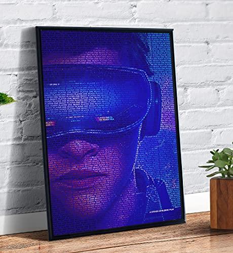 Quadro decorativo emoldurado A4 Jogador Numero 1 Arte Capa Filme