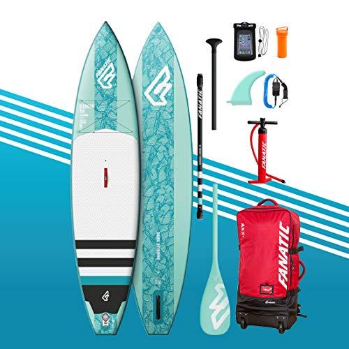 Fanatic 2019 Diamond Air Touring Aufblasbares Stand Up Paddle Boards Kit inkl. Sup Paddel – Sup Pump Sup Leash – Rucksack