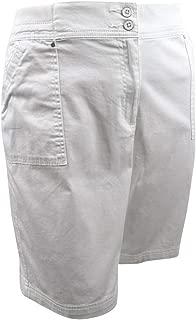 Karen Scott Womens Plus Comfort Waist Summer Casual Shorts