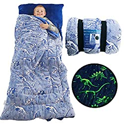 5. DreamsBe Dinosaur Glow in The Dark Sleeping Bag