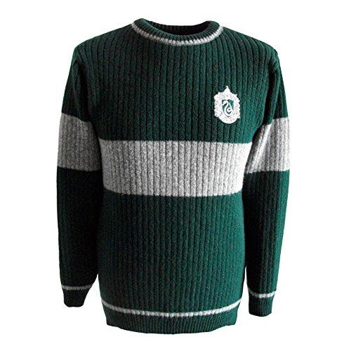 Harry Potter Quidditch Serpeverde maglione originale dal film di lana d'agnello - XXS