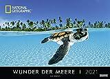 Wunder der Meere - Kalender 2021 - Harenberg-Verlag - Fotokalender - Wandkalender mit atemberaubenden Aufnahmen - 67,8 cm x 48,8 cm