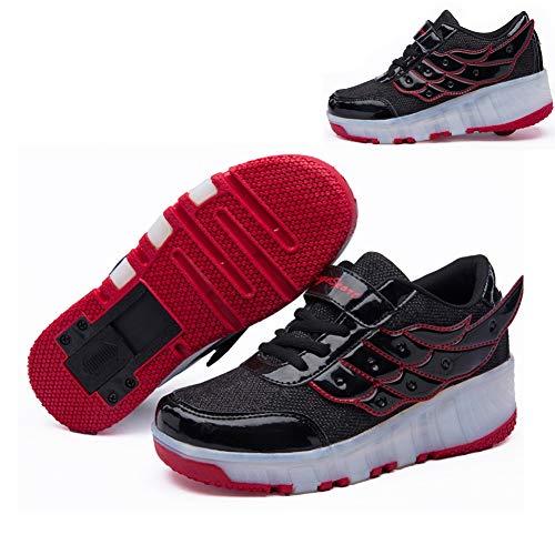 Nicekko Mode Led-rolschaatsen, met automatisch verstelbare wielen, skateboardschoenen, outdoor-sporten, gymnastiek, sneaker, knipperen, turnschoenen
