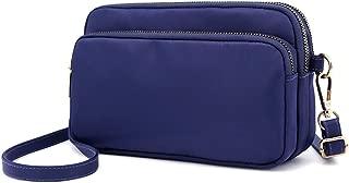 Small Crossbody Purse Mini Nylon Wallets Travel Shoulder Bag Multi Zipper Pockets for Women Girls Lady