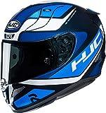 HJC NC Casco per Moto, Hombre, Negro/Azul, L