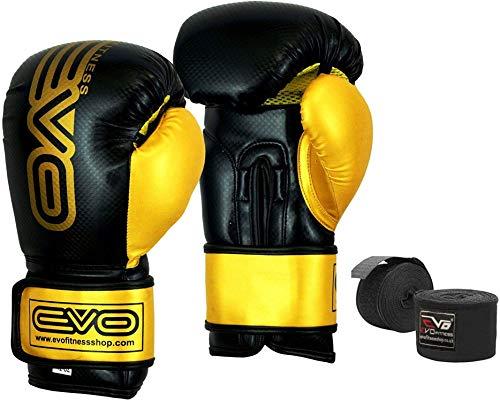 EVO Maya Leder Boxhandschuhe MMA Boxsack Sparring Kickboxen Trainingshandschuh - 14 Oz