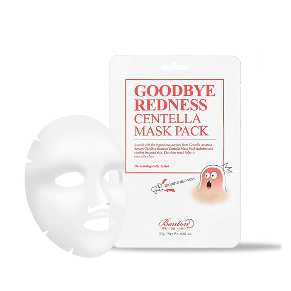 BENTON ベントン Goodbye Redness Centella Mask Pack Sheet 10 EA グッバイレッドネスセンテラマスクパック 10個 [並行輸入品]