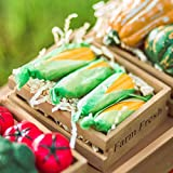 The Queen's Treasures Farm Fresh 18 Inch Doll Size Set of 4 Corn on The Cob Packaged in a Paper Veggie Crate!...